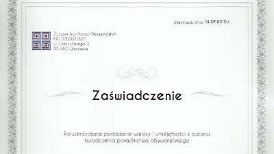 Doradcy z certyfikatami